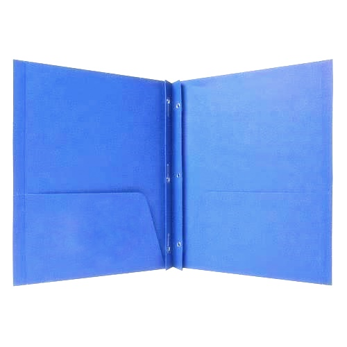 A Folder with brads and pockets